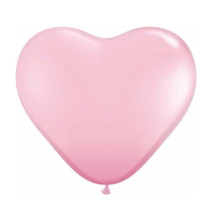 Pink Heart 28cm Balloons (5 pack)