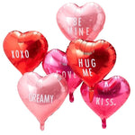 Heart Balloons with Personalisable Stickers (6 pack)