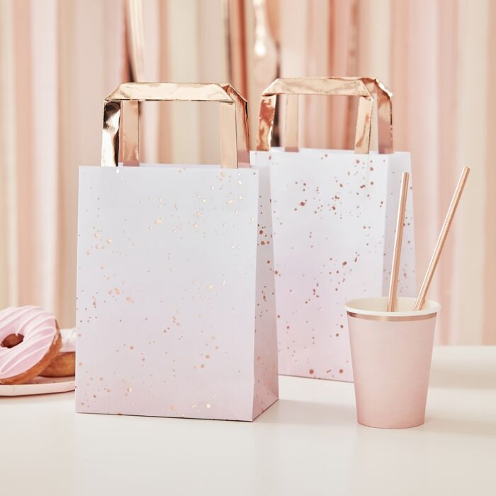 Ombre Pink & Rose Gold Favour Bags (5 pack)