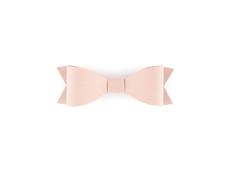 Powder Pink Paper Bows (6 pack)