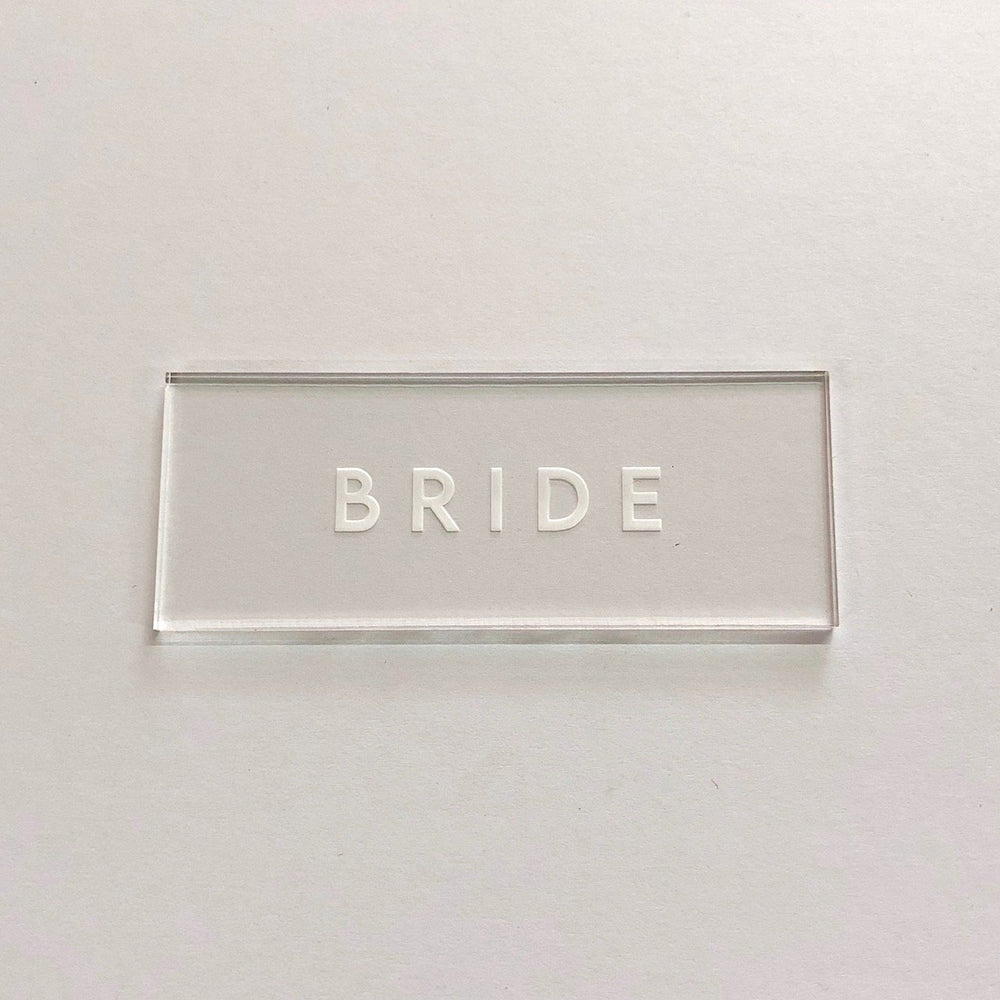 Bride Clear Place Card
