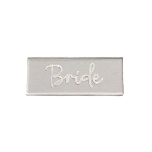 Load image into Gallery viewer, Bride Script Clear Place Card