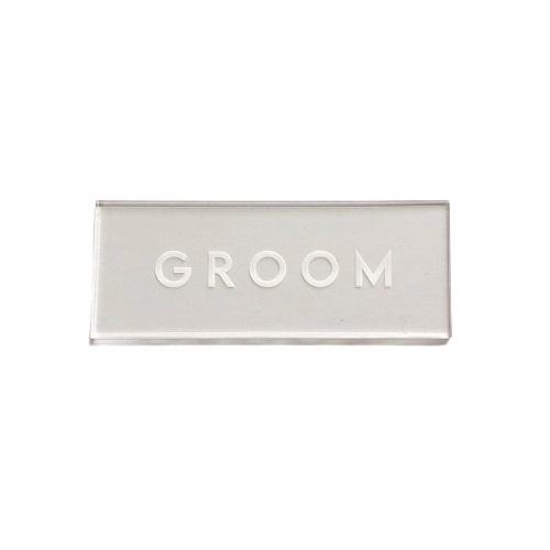 Groom Clear Place Card