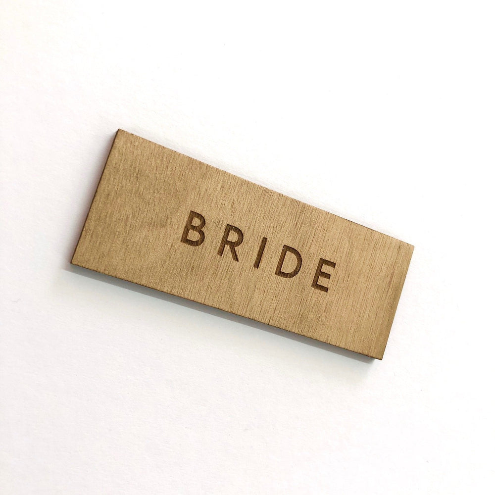 Bride Wooden Place Card