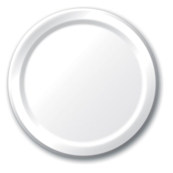 Load image into Gallery viewer, White Plates (24 bulk pack)