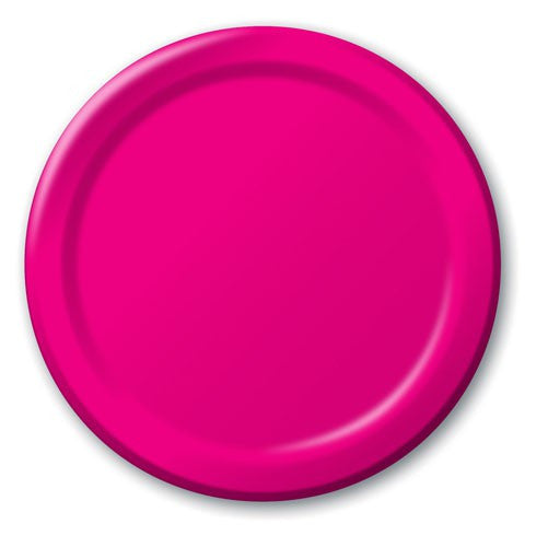 Load image into Gallery viewer, Hot Pink Plates (24 bulk pack)
