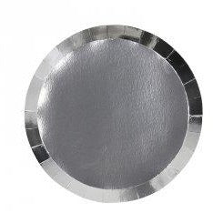 Metallic Silver Small Plates (10 pack)