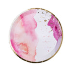 Pink Watercolour Dessert Plates (8 pack)