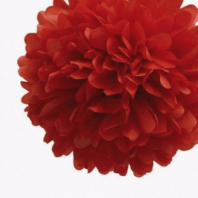 Load image into Gallery viewer, Red Tissue Pom Pom