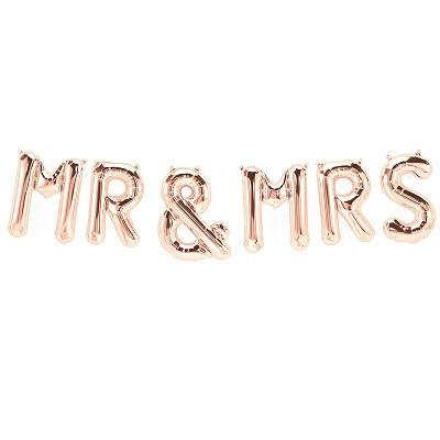 Rose Gold 'MR & MRS' Balloons