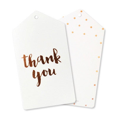 Rose Gold Thank You Tags (10 pack)