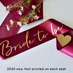 Load image into Gallery viewer, Pink Bride To Be Sash