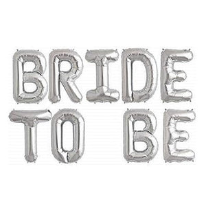 Silver 'BRIDE TO BE' Balloons