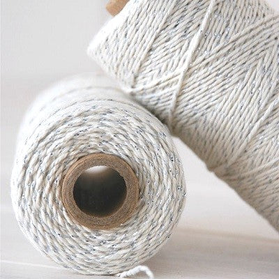 Silver Shimmer Bakers Twine (100m)