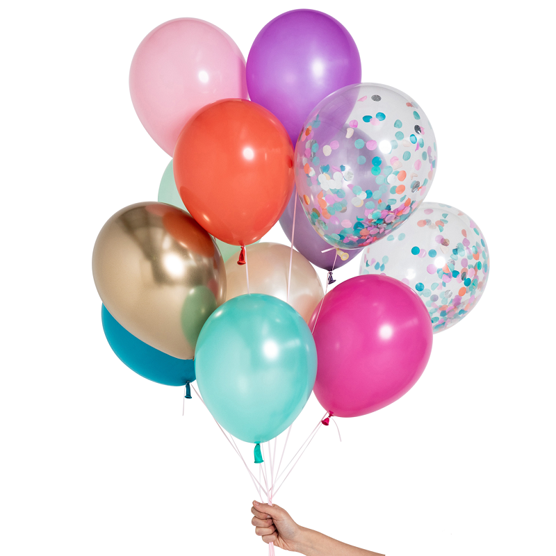 Load image into Gallery viewer, Mermaid Balloon Set (12 pack)