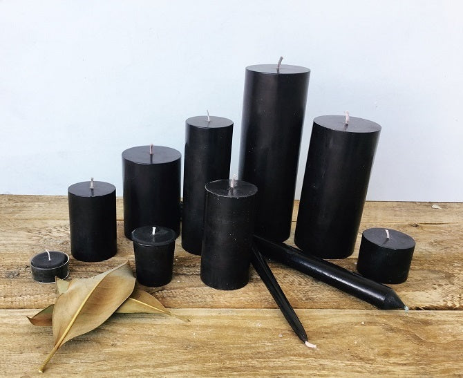 Black Taper Candles (4 pack)