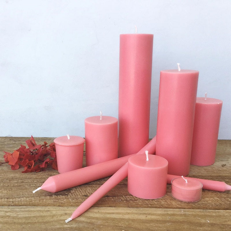 Coral Taper Candles (4 pack)