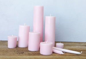 Pastel Pink Taper Candles (4 pack)