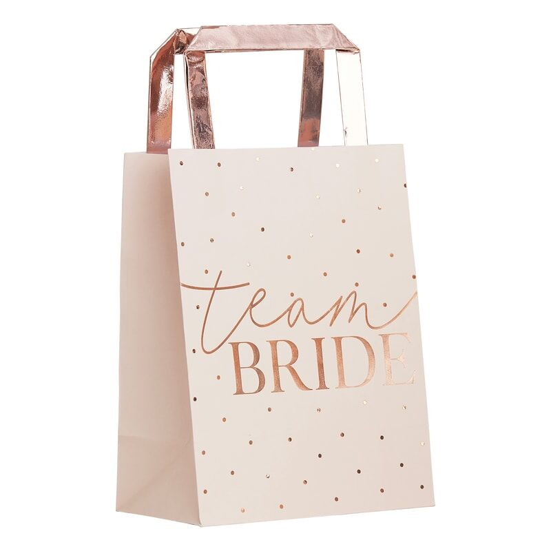 Rose Gold Team Bride Favour Bags (5 pack)