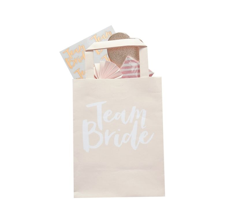 Blush Team Bride Favour Bags (5 pack)