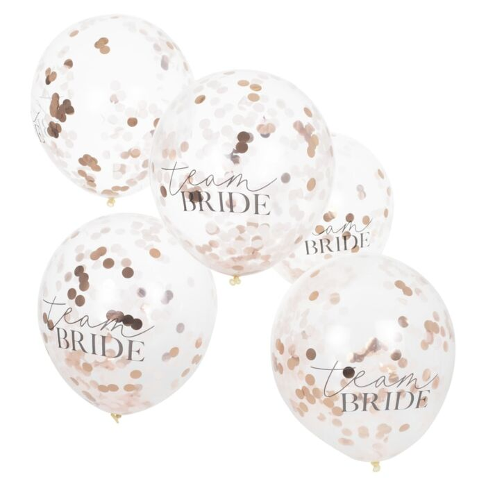 Team Bride Confetti Balloons (5 pack)