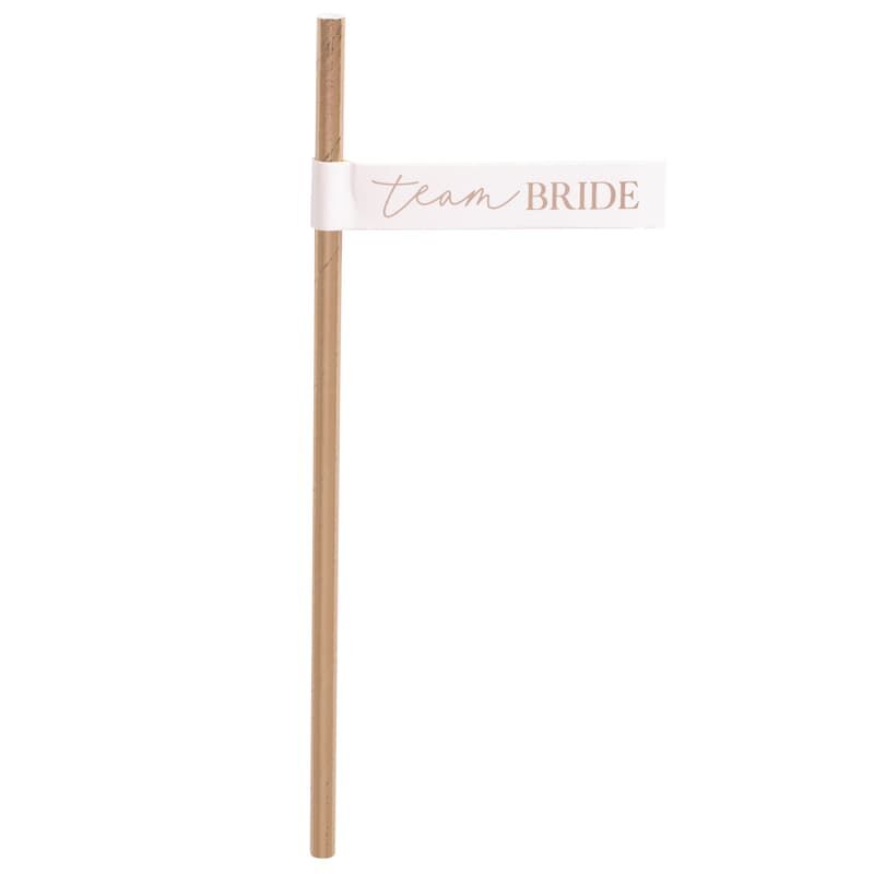 Load image into Gallery viewer, Team Bride Straws & Flags (16 pack)