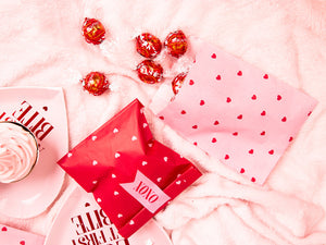 Red & Pink Heart Treat Bags (6 pack)