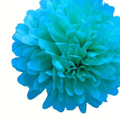 Load image into Gallery viewer, Turquoise Blue Tissue Pom Pom