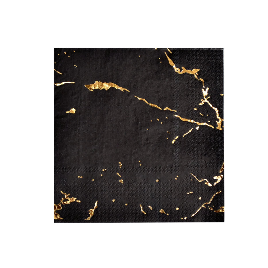 Black Vanity Cocktail Napkins (20 pack)