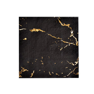 Load image into Gallery viewer, Black Vanity Cocktail Napkins (20 pack)