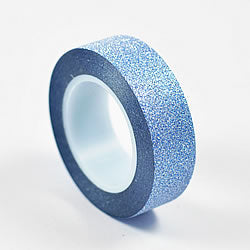 Load image into Gallery viewer, Blue Glitter Washi Tape (10m)