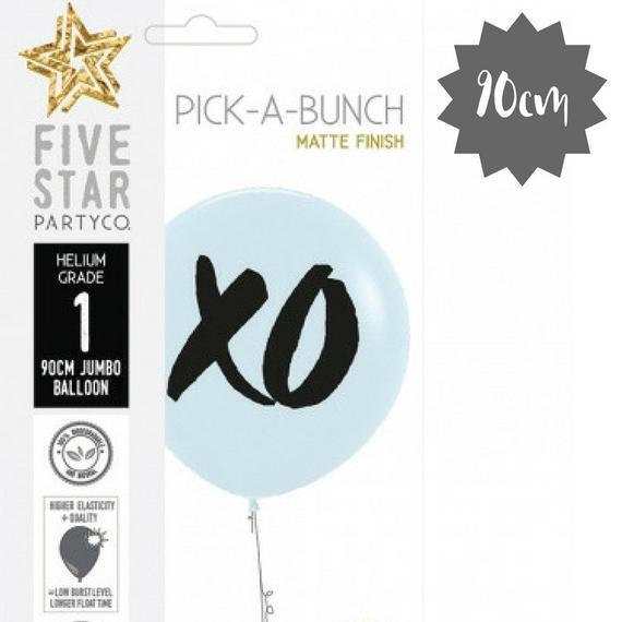 White XO Giant 90cm Balloon