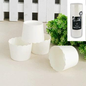 White Baking Cups (25 pack)