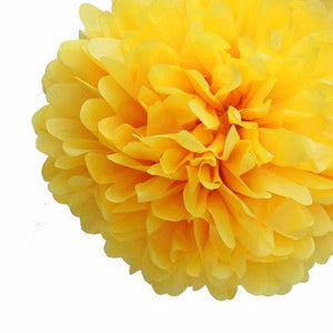 Load image into Gallery viewer, Yellow Tissue Pom Pom