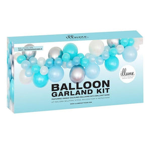 Load image into Gallery viewer, Blue & Silver Balloon Garland Kit
