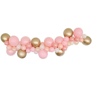 Load image into Gallery viewer, Pink & Gold Balloon Garland Kit
