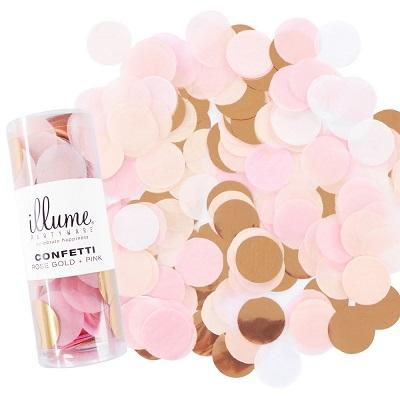 Rose Gold & Pink Confetti