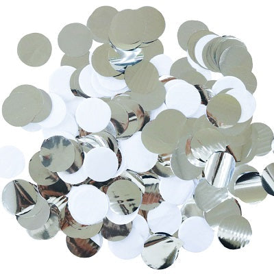 Load image into Gallery viewer, Silver & White Confetti