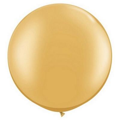 Load image into Gallery viewer, Gold Giant 75cm Round Balloon