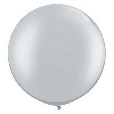 Load image into Gallery viewer, Silver Giant 75cm Round Balloon