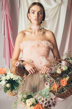 Load image into Gallery viewer, Ella Tulle Top in Blush Pink