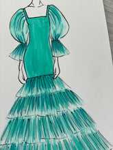 Load image into Gallery viewer, Jade Fashion Illustration