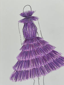 Violet Fashion Illustration
