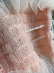 Ella Tulle Top in Blush Pink