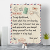 To My Girlfriend - Letter Blankets™
