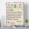 To My Wife - Letter Blankets™