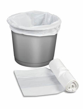White pedal bin liners 11 x17 x 18 inch pack of 1000