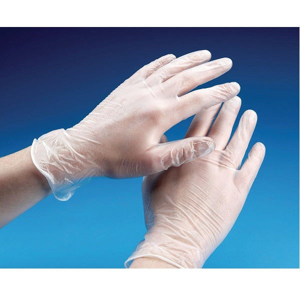 Vinyl Gloves - (Clear, Powder-Free) per case of 1000
