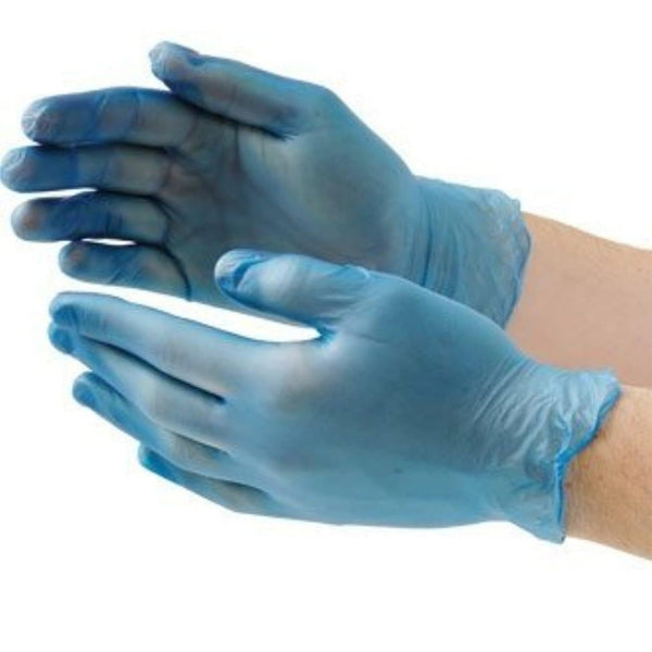 Vinyl blue powder free gloves 1000 per case