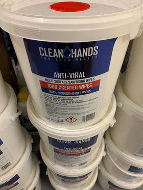 Anti viral disinfectant wipes large 1000 tub